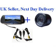 Wireless Video Parking Reversing kit 7'' inch LCD Night View Colour Camera Night View